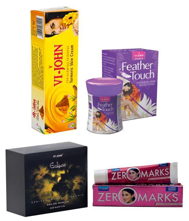 Buy St.john-vijohn Women Care Kit (hair Remover Honey/saffron & Turmeric Cream Fairness Cream & Body Butter & Perfume Eclips)-(code-vj469) online