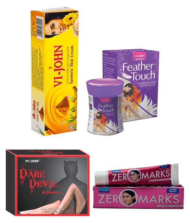 Buy St.Johnvijohn Women Care Kit (Hair Remover Honey/Saffron & Turmeric Cream Fairness Cream & Body Butter & Perfume Dare Davil) online