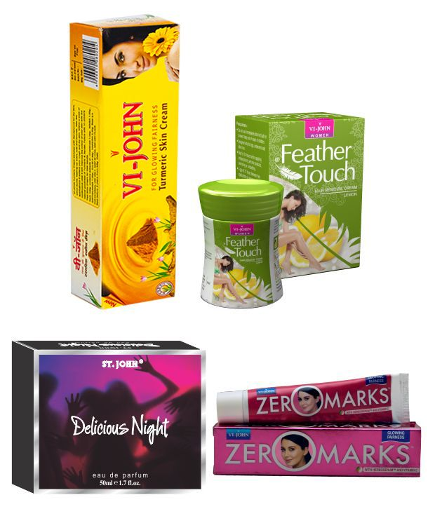 Buy St.Johnvijohn Women Care Kit (Hair Remover Lime & Turmeric Cream Fairness Cream & Body Butter & Perfume Delious Night) online