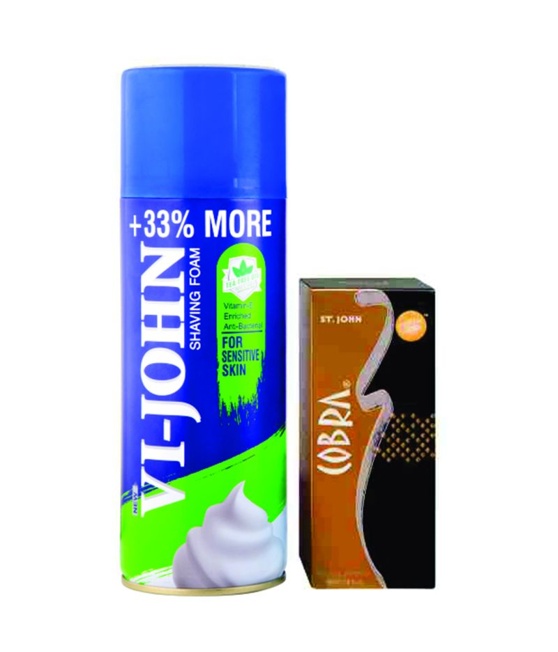 Buy St.Johnvijohn Shave Foam 400Gm For Sensitive Skin & Cobra Perfume 30Ml online