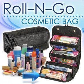 Buy 4 In 1 Roll N Go Cosmetic Bag & Travel Buddy Organizer online
