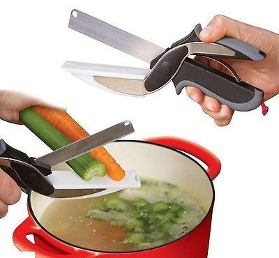 Buy Clever Cutter Vegetable Fruits Slicer Cutter Chopper Scissor online