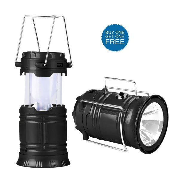 Buy Buy 1 Get 1 Free Solar Rechargeable LED Camping Lantern Light online