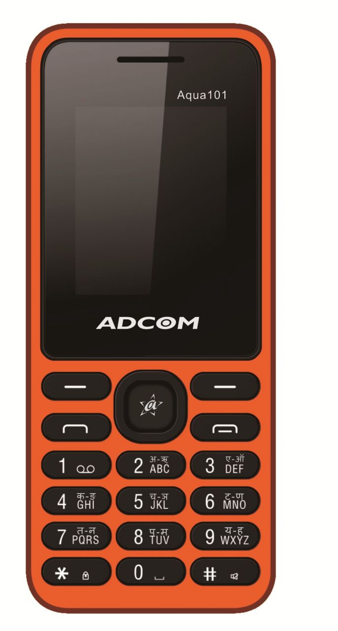 Buy Adcom Aqua 101 Dual Sim Mobile Phone_ Black & Orange online