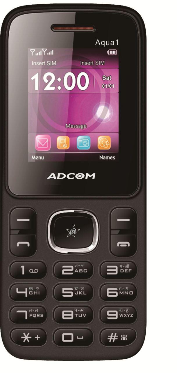 Buy Adcom Aqua 1 Dual Sim Mobile Phone_ Black & Red online