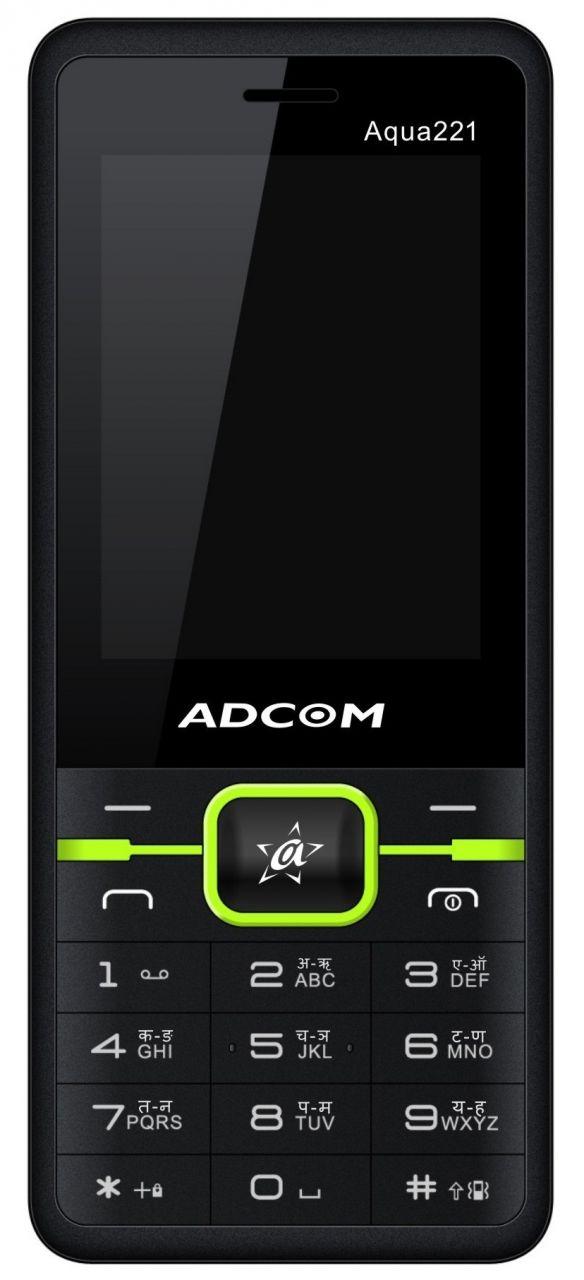 Buy Adcom Aqua 221 Dual Sim Mobile Phone_ Black & Green online