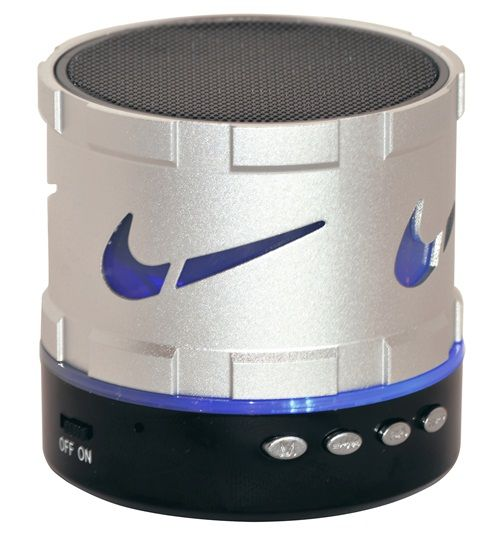 Buy Adcom Mini Bluetooth Speaker with colorful Led lights-Silver online