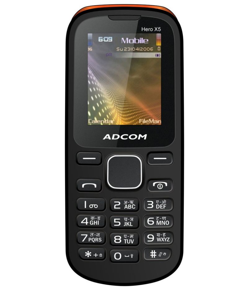 Adcom X5 Dual Sim,voice Changer Mobile With Manufacturer Warranty