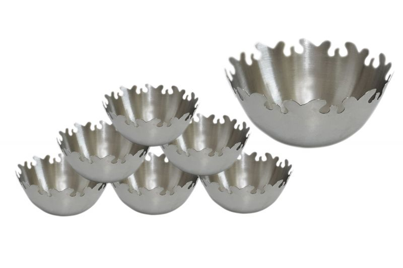 Buy Set Of 7 Stylish Dessert And Dryfruits Bowls With A Serving Bowl online