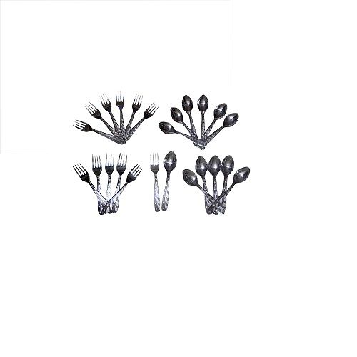 Buy 24 PCs Elegant Stainless Steel Cutlery Set online