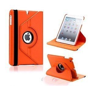 Buy Pu Leather Full 360 Degree Rotating Flip Book Case Cover Stand For Ipad Air 5 (orange) online