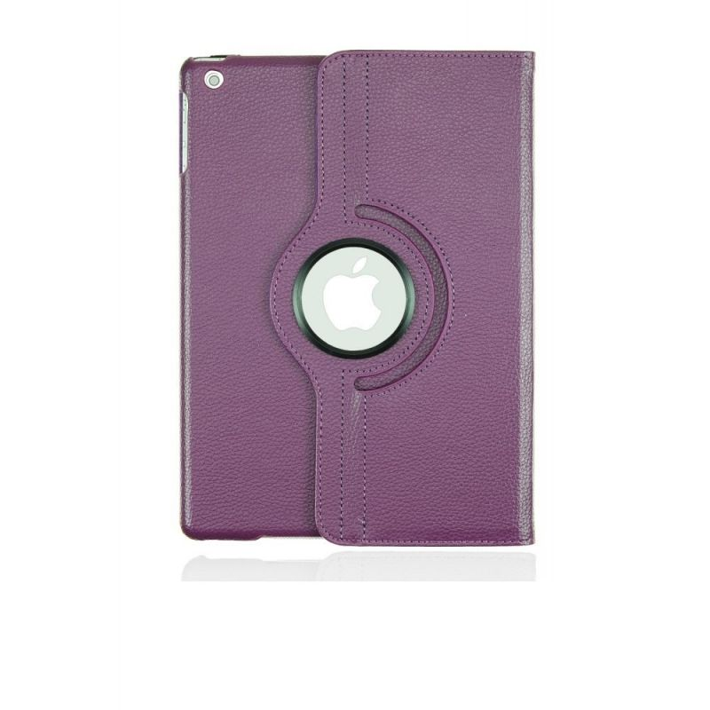 Buy Pu Leather Full 360 Degree Rotating Flip Book Case Cover Stand For Ipad Air 5 (violet ) online