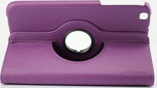 Buy Pu Leather Full 360 Rotating Flip Book Cover Case Stand For Samsung Galaxy Tab 3 T311 (purple) online