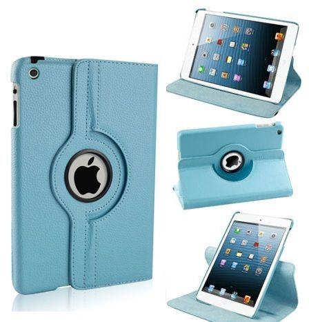 Buy Pu Leather 360 Degree Rotating Leather Case Cover Stand (sky Blue) For Ipad Mini 2 Retina online