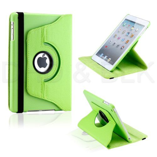 Buy Pu Leather 360 Degree Rotating Leather Case Cover Stand (green) For Ipad Mini 2 Retina online