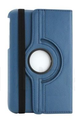 Buy Pu Leather 360 Deg Rotatable Leather Flip Case Cover For Samsung Tab 3 Neo T111 T110 Tablet (navy Blue) online