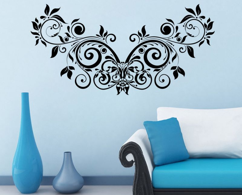 Buy Decor Kafe Decal Style Floral Creative Design Wall Sticker
