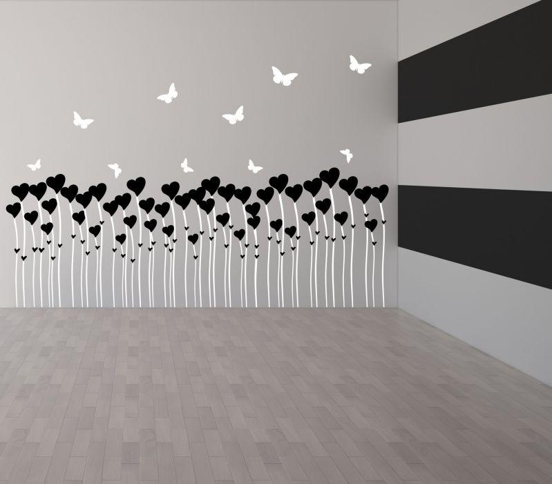 Buy Decor Kafe Decal Style Love Butterflies Wall Sticker online