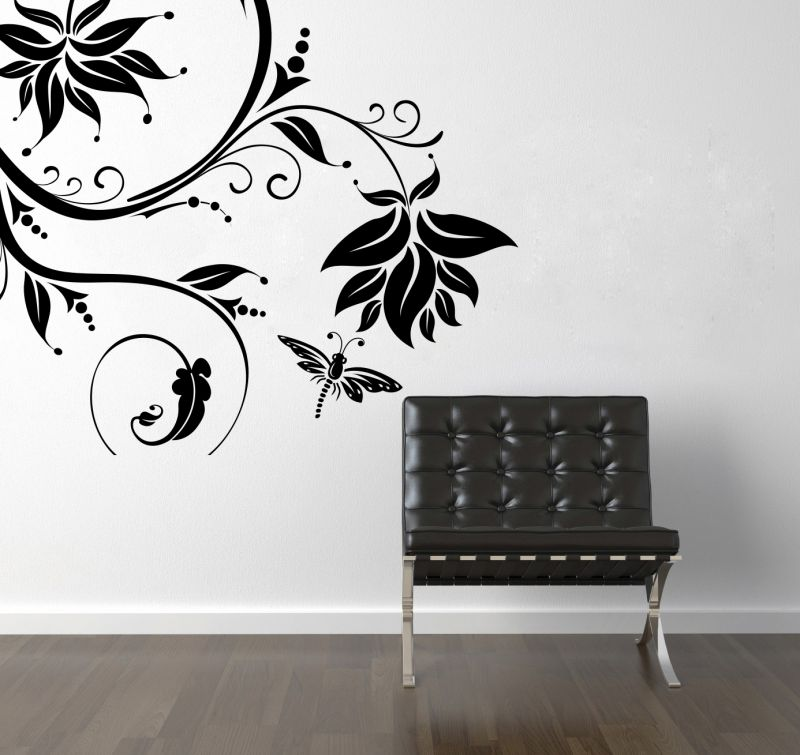 Buy Decor Kafe Decal Style Creative Butterfly Branch Wall Sticker online