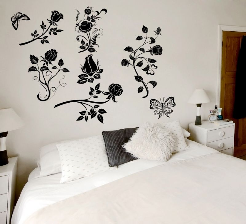Buy Decor Kafe Decal Style Abstract Flowers Wall Sticker online