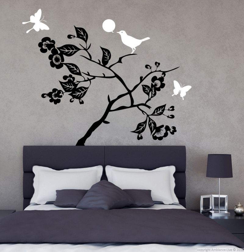 Buy Decor Kafe Decal Style Bird On Tree Wall Sticker online