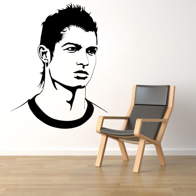 Buy Decor Kafe Decal Style Ronaldo Wall Sticker online