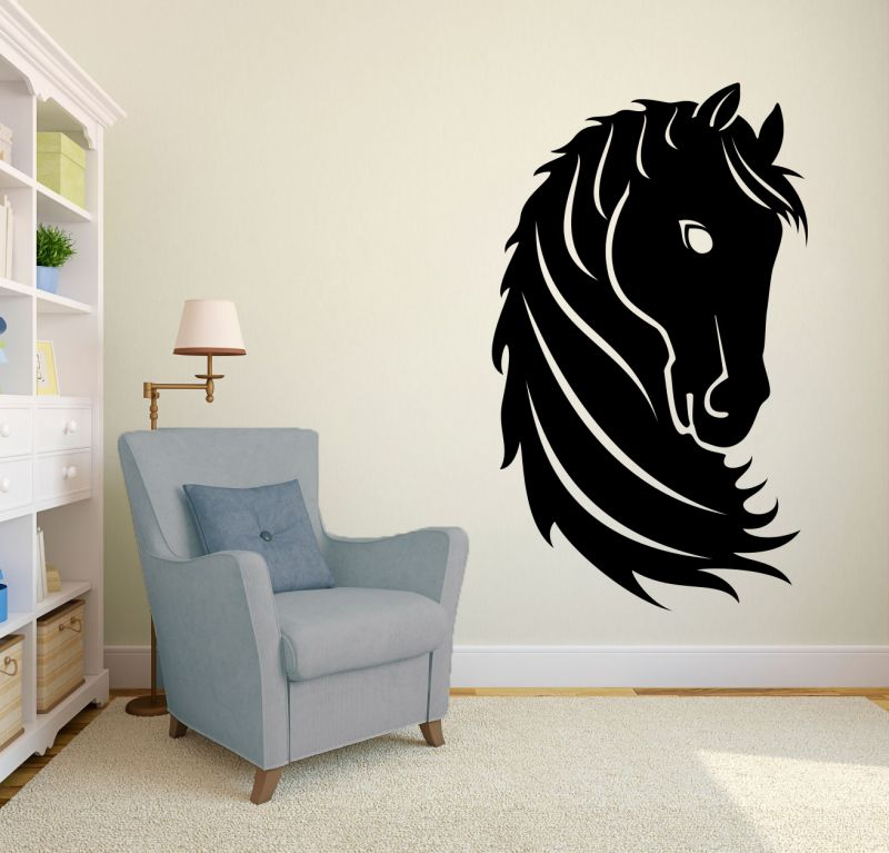 Buy Decor Kafe Decal Style Horse Head Wall Sticker online