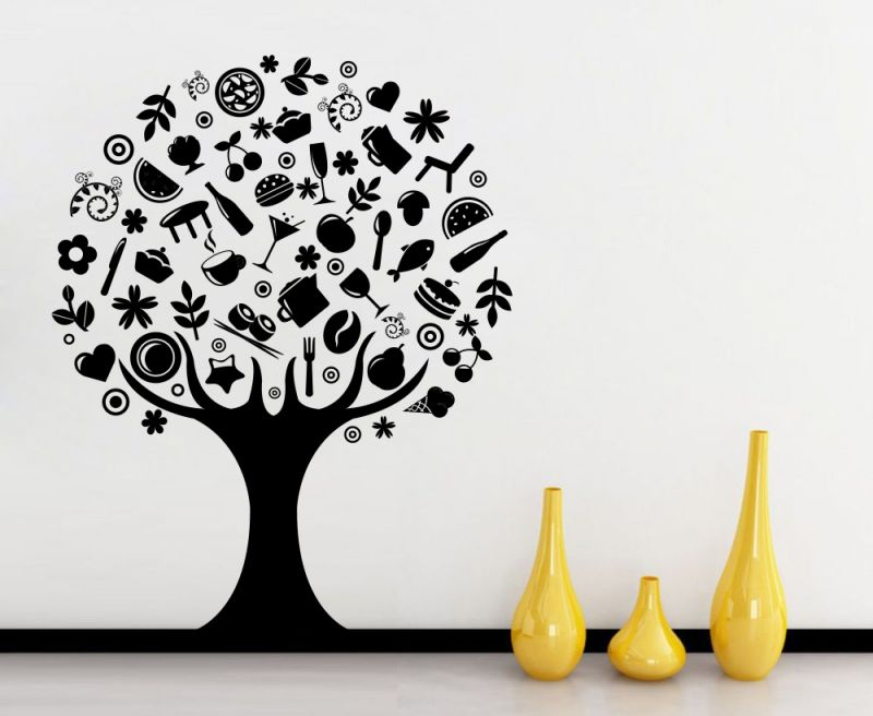 Buy Decor Kafe Decal Style Creative Tree Wall Sticker online