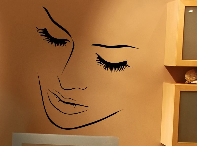 Buy Decor Kafe Decal Style Creative Face Wall Sticker online