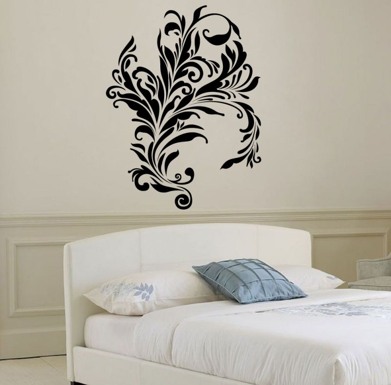 Buy Decor Kafe Decal Style Swirl Design Attractive Wall Sticker online
