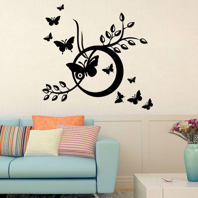Buy Decor Kafe Decal Style Butterflies Swings Wall Sticker online