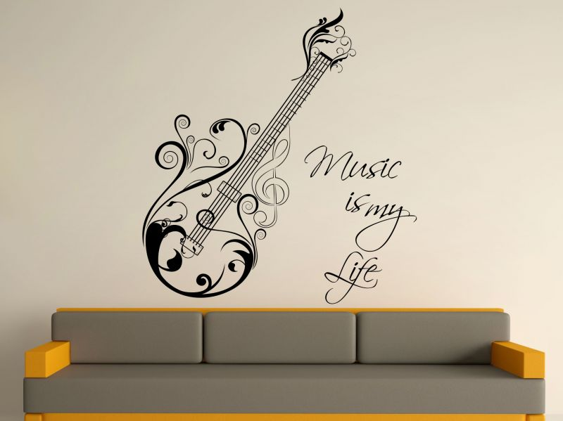 Buy Decor Kafe Decal Style Music Is My Life Wall Sticker online