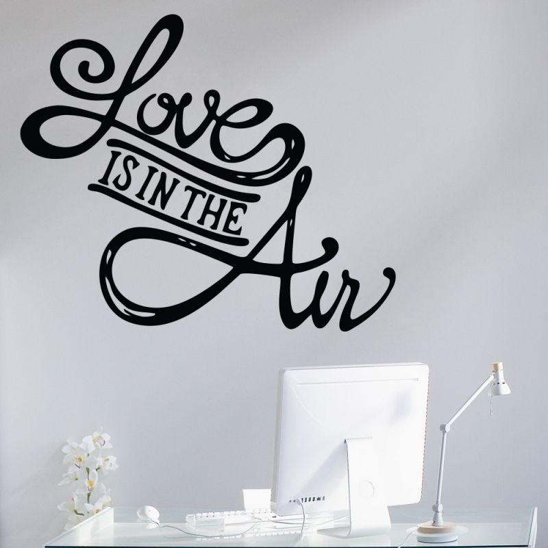 Buy Decor Kafe Decal Style Love Is In The Air Medium Wall Sticker online