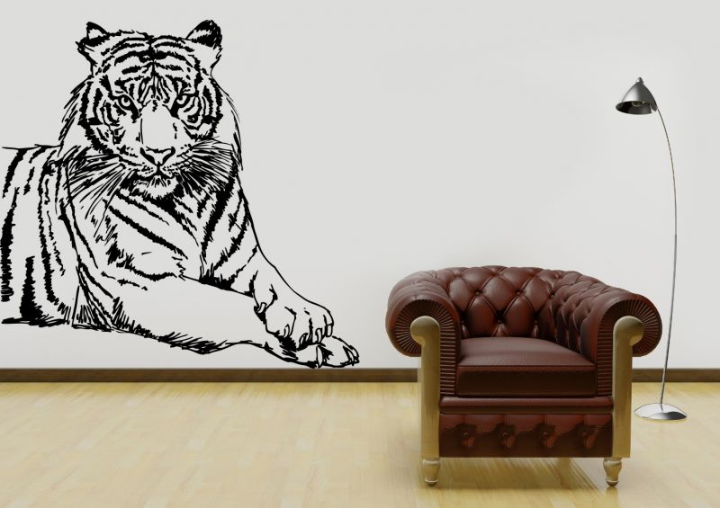 Buy Decor Kafe Decal Style Attractive Tiger Wall Sticker online