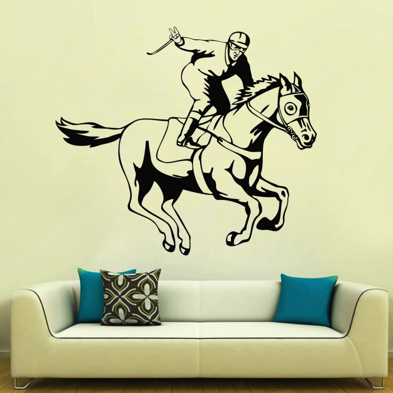 Buy Decor Kafe Decal Style Horse Riding Wall Sticker online