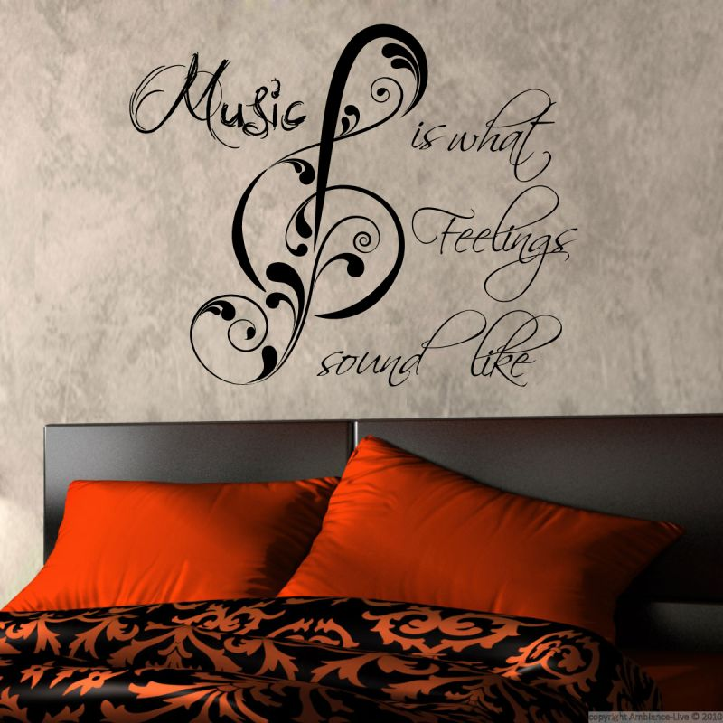 Buy Decor Kafe Decal Style Feel The Music Wall Sticker online