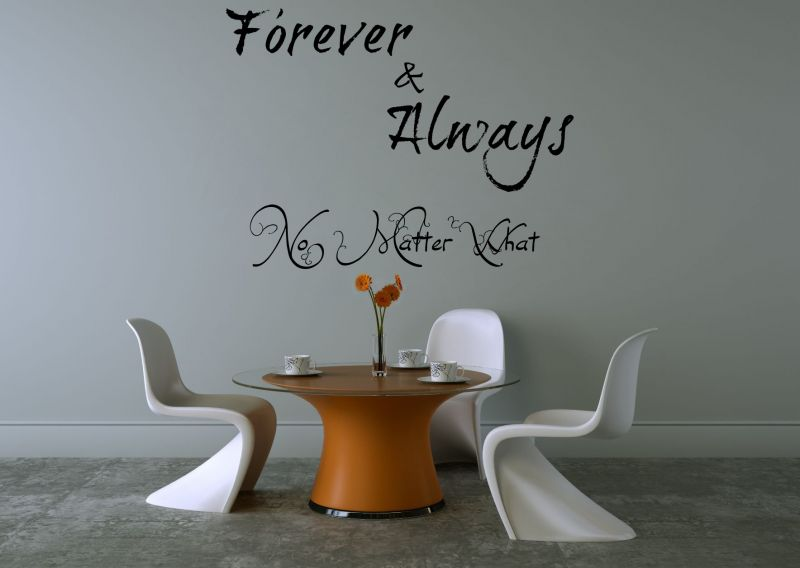 Buy Decor Kafe Decal Style Forever & Always Wall Sticker online