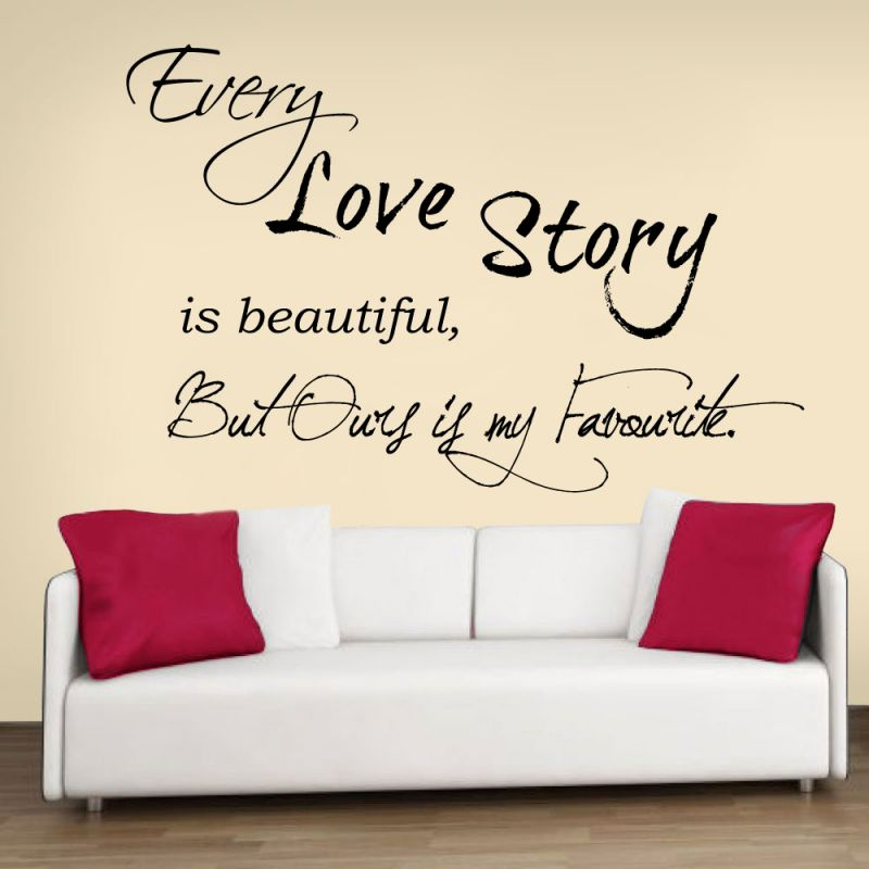Buy Decor Kafe Decal Style Love Story Wall Sticker online