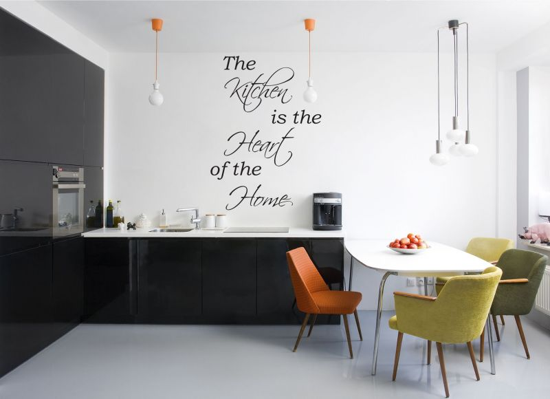 Buy Decor Kafe Decal Style Kitchen Is The Heart Wall Sticker online