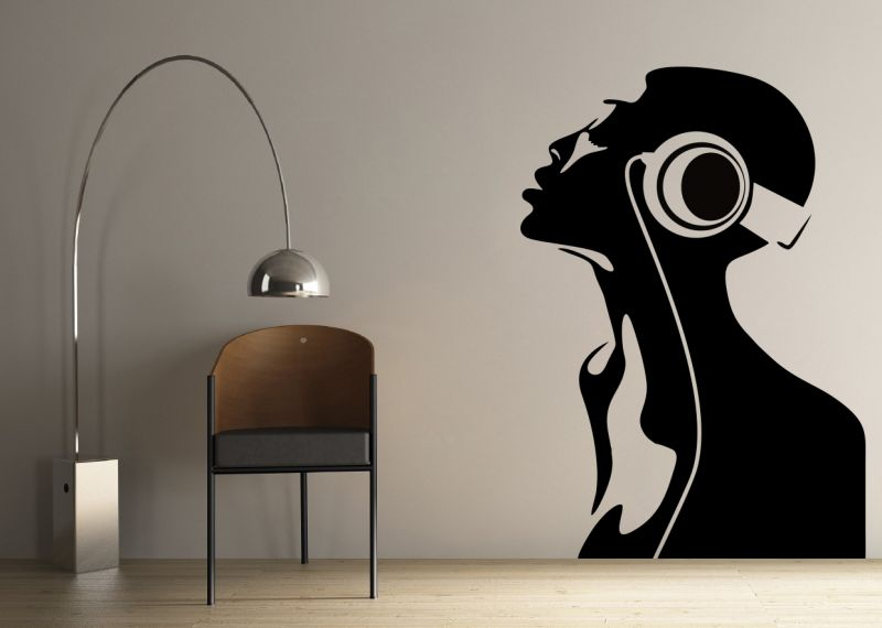 Buy Decor Kafe Decal Style Women Singing Wall Sticker online