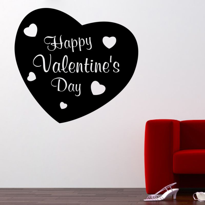 Buy Decor Kafe Decal Style Valentine Day Large Wall Sticker online