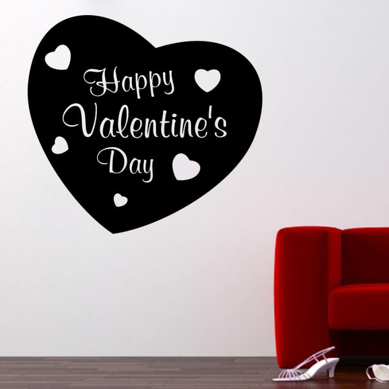 Buy Decor Kafe Decal Style Valentine Day Medium Wall Sticker online