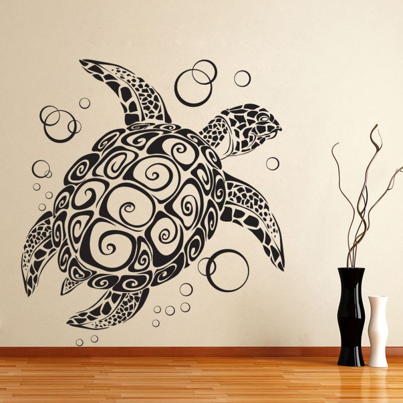 Buy Decor Kafe Decal Style Turtle Wall Sticker online