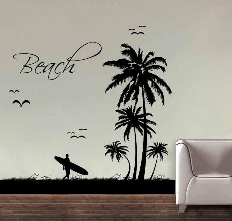 Buy Decor Kafe Decal Style Beach Wall Sticker online