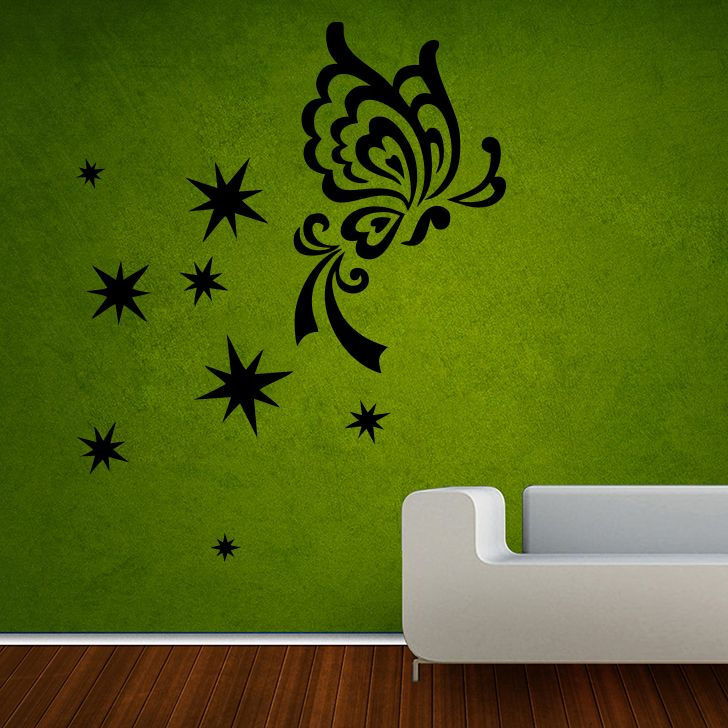 Buy Decor Kafe Decal Style Butterfly Sparkles Large Wall Sticker online