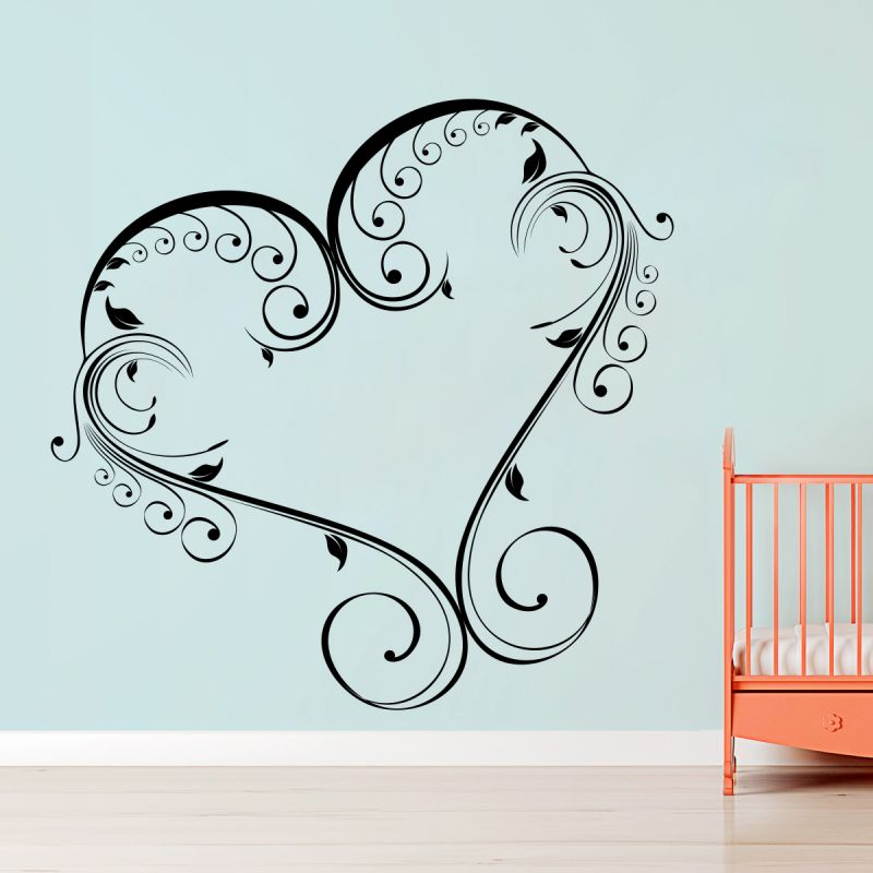 Buy Decor Kafe Decal Style Creative Heart Wall Sticker online