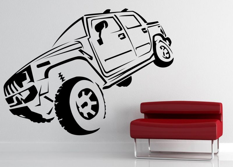 Buy Decor Kafe Decal Style Hummer Wall Sticker online