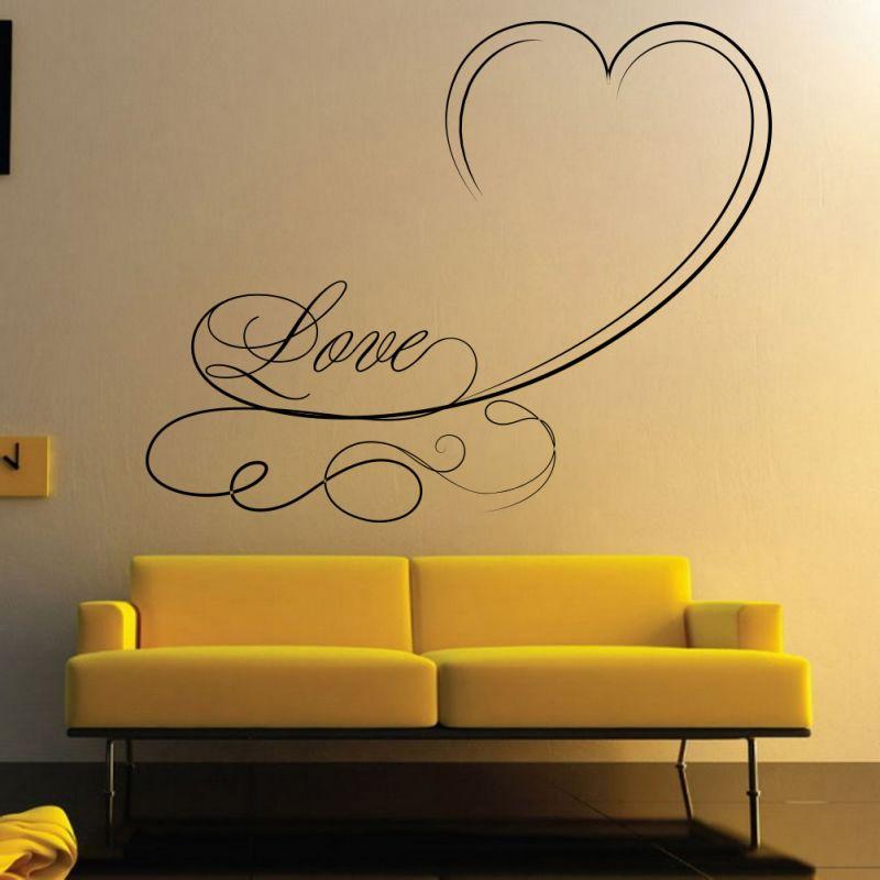 Buy Decor Kafe Decal Style Love Swirls Wall Sticker online