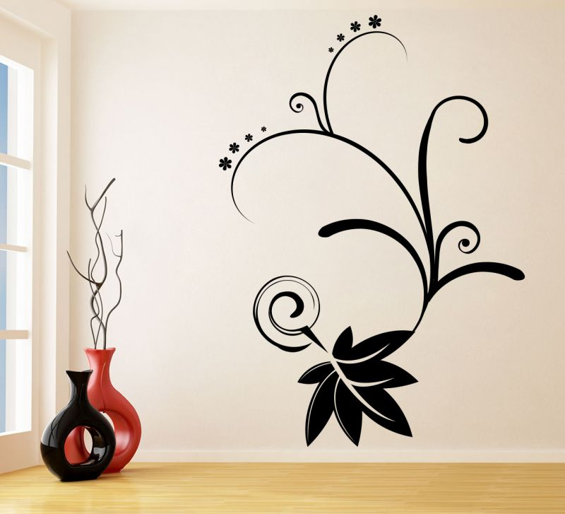 Buy Decor Kafe Decal Style Swirl Branch Wall Sticker online