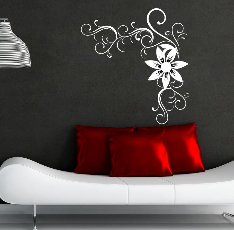 Buy Decor Kafe Decal Style Black & White Branch Wall Sticker online